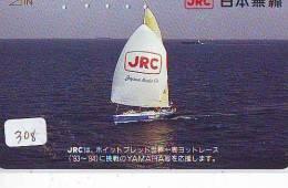 Télécarte Japon * BATEAU VOILIER * Sailing SHIP (308) Phonecard Japan * SCHIFF * Segelschiff * Zeilboot * YACHT - Boats