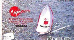 Télécarte Japon * BATEAU VOILIER * Sailing SHIP (309) Phonecard Japan * SCHIFF * Segelschiff * Zeilboot * YACHT - Boats