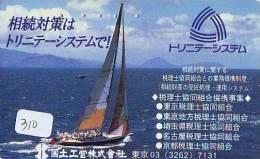 Télécarte Japon * BATEAU VOILIER * Sailing SHIP (310) Phonecard Japan * SCHIFF * Segelschiff * Zeilboot * YACHT - Boats