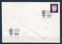 Lituania 1996 Paralimpiadi Di Altanta96 Busta - Lithuania