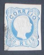 PORTUGAL  D. PEDRO  V - Cabelos Anelados  -  25 REIS  AFINSA Nº12 - USED -  (726) - 1855-1858: D. Pedro V.