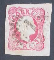 PORTUGAL  D. PEDRO  V - Cabelos Anelados  -  25 REIS  AFINSA Nº13 - USED -  (727) - 1855-1858: D. Pedro V.
