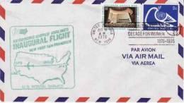 ONU ~30 Octobre  1978   Enveloppe 1° Vol Aérien   New York . San Francisco - Lettres & Documents