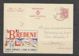 Publibel 1952 Bredene - Entiers Postaux