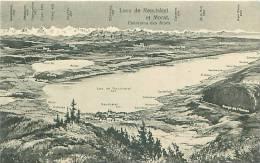 Lacs De NEUCHATEL Et MORAT (Phototypie Co., Neuchâtel) - NE Neuchâtel