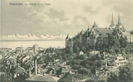 NEUCHATEL - Le Château Et Les Alpes (Phototypie Co., Neuchâtel) - NE Neuchâtel