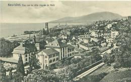 NEUCHATEL - Vue Sur La Ville Depuis Le Mail   (Phototypie Co., Neuchâtel) - NE Neuchâtel