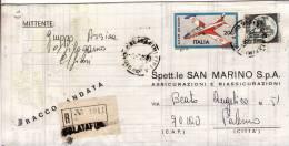 COMMEMORATIVI  /  Piego Raccomandata Lire 200 + Altro - 6. 1946-.. Repubblica