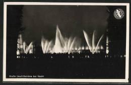 """CPA Düsseldorf, Grosse Reichsausstellung """"Schaffendes Volk"""" 1937, Grosse Leuchtfontäne Bei Nacht - Ausstellungen"""