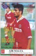 MALTA - PROGRAM BOOK  ( MALTA  Vs  BELGIUM  )  1994 - Books