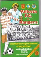 MALTA - PROGRAM BOOK  (  VALLETTA F.C.  Vs  RANGERS )  1983 - Books