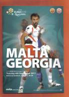 MALTA -  PROGRAM BOOK  (  MALTA  Vs  GEORGIA  ) 2011 - Books