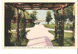Bath House And Pier From Garden, Riding Mountain National Park, Manitoba - Manitoba