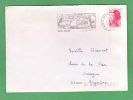 Flamme Dpt 66 : COLLIOURE (SCOTEM N°  7934 émise Le 14/06/1986) : Cité Des Peintres - Soleil - Mer - Vins - Marcophilie (Lettres)