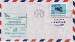 ONU ~ 1979  N° 287  Enveloppe Vol Aerien   New York  Stockholm - Lettres & Documents