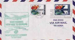 ONU ~ 1979  N° 300 + 301 Enveloppe Vol Aerien   New York  Stockholm - Lettres & Documents