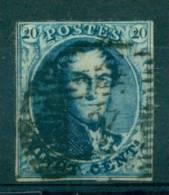 Belgique - No 4 Oblitéré D4 (Anvers), Légèrement Touché, Luxe, See Scan - 1849-1850 Medaillen (3/5)