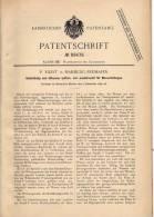 Original Patentschrift - P. Eilert In Hamburg - Freihafen , 1897 , Ventil Für Wasserleitung , Kanalisation !!! - Documents Historiques