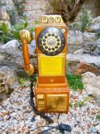 TELEPHONE BOIS MURALE FONCTIONNE - Telephony