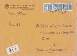 SICILIA _ COMUNE DI  FRAZZANO'  (ME) - TEMATICA COMUNI - ARALDICA - Affrancature Meccaniche Rosse (EMA)