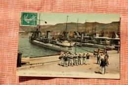 CP WW1: Toulon: Le Petit Rang, Exercices De Fusilliers - Documents