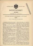 Original Patentschrift - Hutkoffer , Hut , 1898 , G. Schoenleber In Stuttgart , Hüte !!! - Hauben, Mützen, Hüte