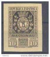 ES727-1921TESSC..Spain.Es Cudo De Madrid.Espagne.EXPOSICION  FILATELICA  NACIONAL.1936.( Ed 727**,)sin Charnela.LUJO - Escudos De Armas