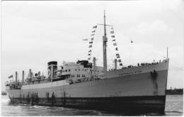 AUSTRALIA STAR Blue Star Line Built 1935 Real Photo Card Type Postcard - Commercio