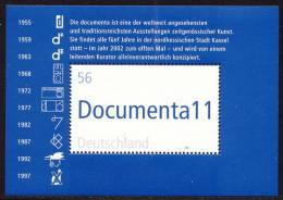 Art Exhibition - 11. Documenta - Germany 2002 - Souvenir Sheet Mi. Bl. 58 ** MNH - Blocks & Sheetlets