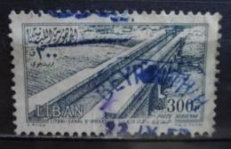 1954 Libanon High Value 300p. Airmail Used/gebruikt - Libanon