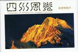 L-CH35 - CHINE Etui Avec 10 Cartes Entiers Postaux Paysages Du SICHUAN - Postcards