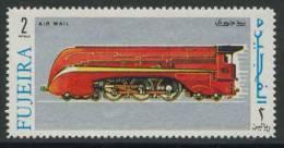 Fujeira 1969 Mi 338 Aero ** Streamlined Express Train Steam Locomotive / Stromlinien-Schnellzug-Da Mpflokomotive - Treinen