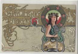 DB342-1903 Cartolina 34°REGGIMENTO FANTERIA-Stemma Araldico+timbro COMANDO - Regiments