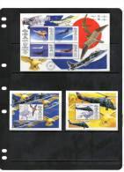 NEVIS,1998,ROYAL AIR FORCE, PLANES, FIGHTER PLANES,BIRDS, SHEETLET+ 2 S/ SHEETS ,  MNH - Vliegtuigen