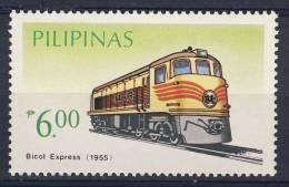 Philippines Pilipinas 1984 Mi 1641 ** Bicol Express (1955) /  Diesellokomotive - Schienenfahrzeuge - Treinen