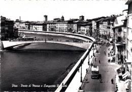 PISA Ponte Di Mezzo E Lungaro Pacionotti Belle Cpsm Animée Bon état Voir Scans - Pisa