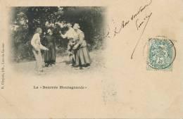 La Bourrée Montagnarde R. Chapuis Edit Lons Le Saunier Envoyée A Noemie Mitterrand Bourges - France