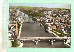MV460- LAGNY THORIGNY (Seine-et-Marne) Les Ponts Vue D'ensemble (voir Détails 2scan) RARE Vue Aérienne écrite Colorisée - Lagny Sur Marne