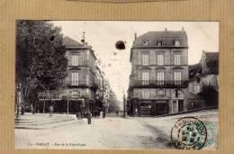 SARLAT LA CANEDA RUE DE LA REPUBLIQUE AVEC COMMERCES EDIT    CIRC  1904 - Sarlat La Caneda