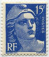 884 -  Marianne De Gandon  15f Outremer - Francia
