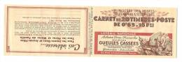Carnet Ancien  N° Yvert 365 C5   HANN BYRRH BYRRH CCP Couverturev Gueules Cassées - Carnets