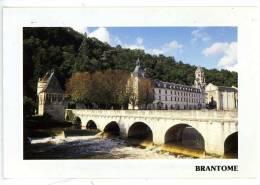"""BRANTOME - L´Abbaye Sur La Dronne - Le Pont Les Berges - """"venise Du Périgord"""" - Brantome"""