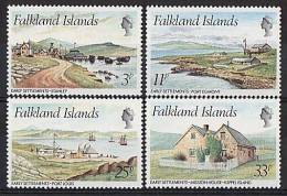 Falkland 1980 - Vues, Port Egmont - 4v Neufs*** (MNH) - Falkland Islands