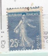 FRANCE N°140 25C BLEU TYPE SEMEUSE CADRE ET SIGNATURE EN HAUT OBL - Variétés Et Curiosités