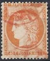 FRANCE - 40 C. Oblitération Rouge TB - 1870 Siege Of Paris