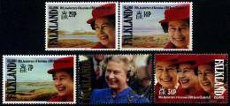 Falkland 1992 -40e Ann Ascension Au Trône QE II - 5v Neufs*** (MNH) - Falkland