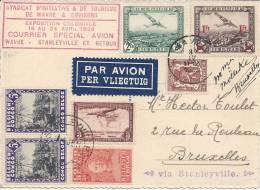 BELGIQUE -  1938 - BELLE  CARTE DE L´EXPOSITION COLONIALE DU 16 AU 24 AVRIL 1938 -  TB  - - Postmark Collection
