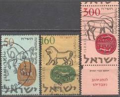 1957 New Year (5718)  Bale 144-6 / Sc 129-31 / Mi 145-7 Gestempelt/oblitere/used [gra] - Israel