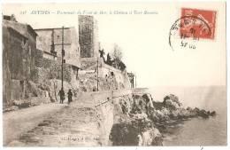 ANTIBES - LA PROMENADE DU FRONT DE MER - LE CHATEAU ET LA TOUR ROMAINE - Antibes