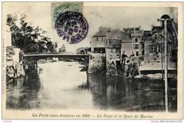 77-La FERTE-sous-JOUARRE-En 1862-Le Pont Et Le Quai De Marine- - La Ferte Sous Jouarre